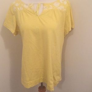 NWOT Banana Republic Floral embroidered top